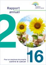 Couverture du rapport annuel 2016 de la Fondation contre le Cancer