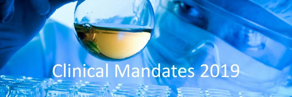 Clinical Mandates 2019
