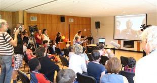 Séance Skype avec les Diables Rouges au Camp Tournesol pour enfants atteints du cancer