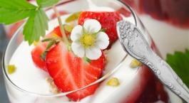 Parfait aux fraises