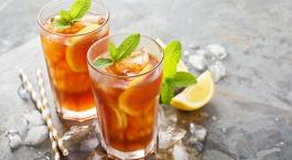 Icetea met jasmijn en citroenmelisse
