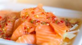 Marinade de saumon aux agrumes et fenouil