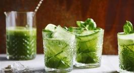 Recept Sofie Dumont: Komkommer basilicum fizz
