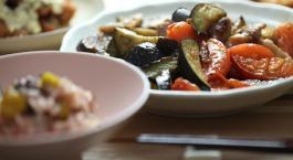 Tofu aux légumes parfumés à l'ail & à l'origan