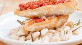vis met witte bonen
