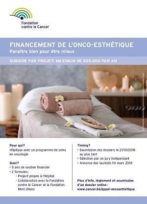 Affiche financement onco-esthétique